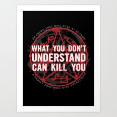 A Law To Live By Art Print