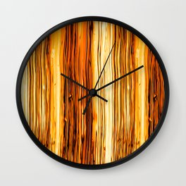 Abstract Gold Fire Paint VI Wall Clock