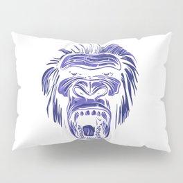 GORILLA KING KONG - Blue Pillow Sham