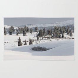 Yellowstone National Park - Blacktail Deer Plateau Panorama Rug