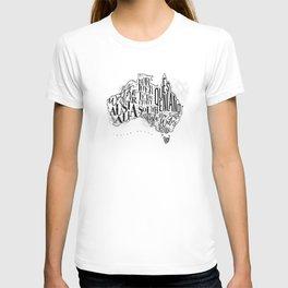 Map Australia vintage T-shirt