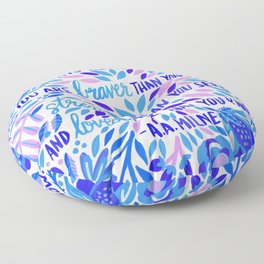 Always Remember – Indigo Palette Floor Pillow
