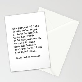 The Purpose Of Life, Ralph Waldo Emerson Quote Stationery Cards