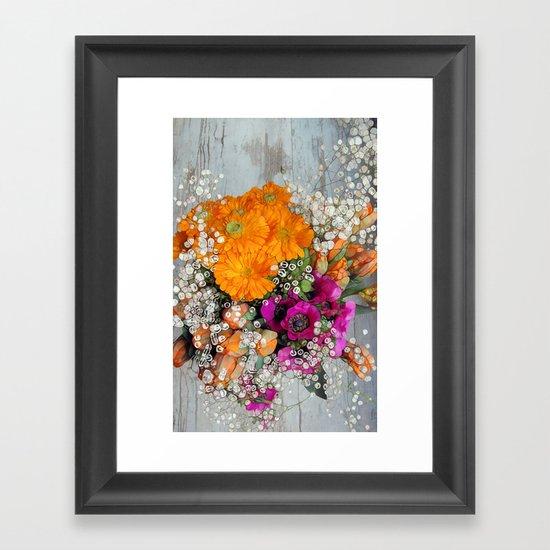 Funky Floral Framed Art Print