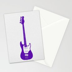 Minimalistic Bass Guitar Stationery Cards