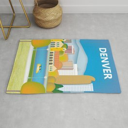 Denver, Colorado - Skyline Illustration by Loose Petals Rug