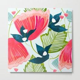 Botanica || #botanical #pattern Metal Print