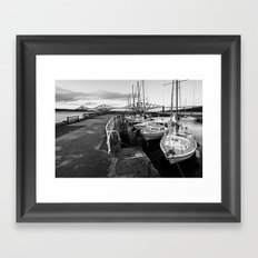 South Queensferry Harbour Framed Art Print