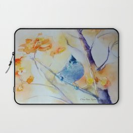 Nuthatch Aspen Morning Looking Up watercolour by CheyAnne Sexton Laptop Sleeve