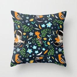 Hoopoe bird pattern Throw Pillow
