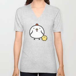Cute chick and chicken Unisex V-Neck