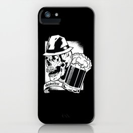 Dark Oktoberfest Skull Beer iPhone Case