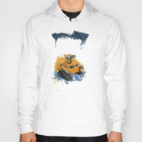 wall e Hoodies featuring Wall-E and Rothko by Renee Bolinger