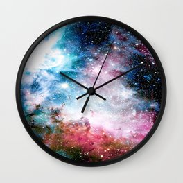 Carina Nebula : Colorful Galaxy Wall Clock