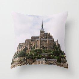 Mont-Saint-Michel Throw Pillow