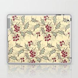 Holly berry Christmas pattern design Laptop & iPad Skin
