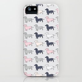 Doxie Love - Grey and Pink iPhone Case