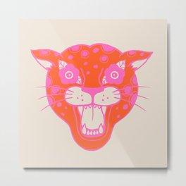 Neon Cheetah Metal Print