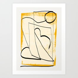 Abstract line art 4 Art Print