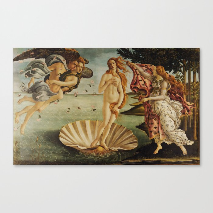 The Birth of Venus by Sandro Botticelli Canvas Print
