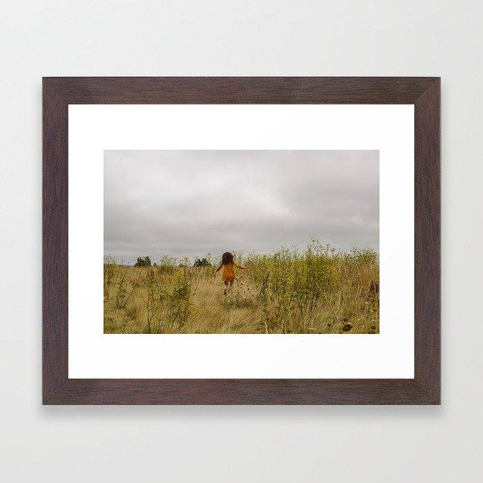 Mustard Fields Framed Art Print