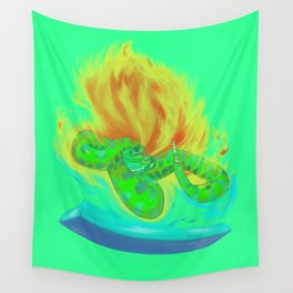 Crotalus between ice and fire Wall Tapestry