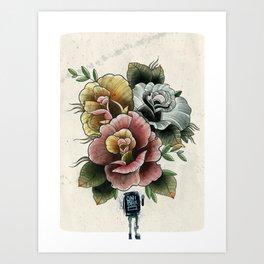 Roses for the dead Art Print