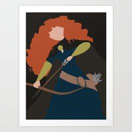Merida - Brave - Minimalist Art Print