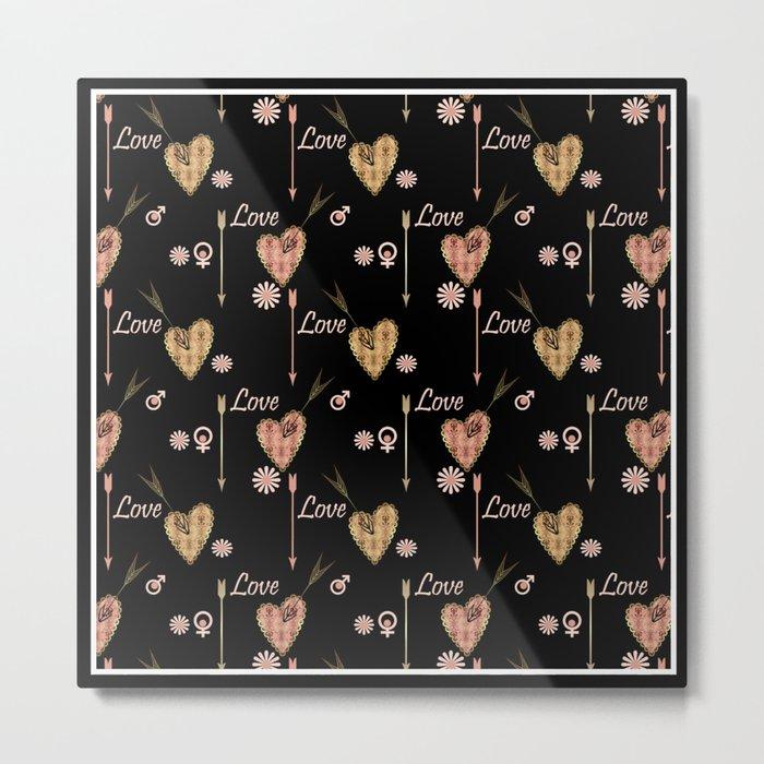 Broken hearts. Love . Metal Print