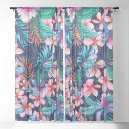 Matthew Williamson tropical hawaiian flowers Sheer Curtain