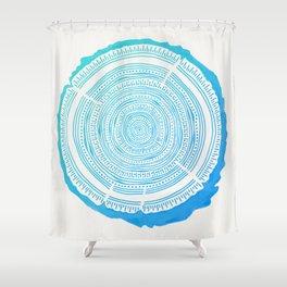 Douglas Fir – Blue Ombré Shower Curtain