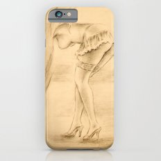 Erotic - Girl in lingerie iPhone 6s Slim Case