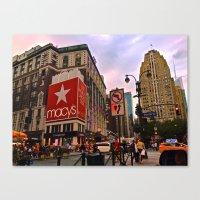 manhattan Canvas Prints featuring Manhattan by Jaime Viens