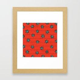 zuhur fire Framed Art Print