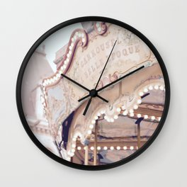 Classic Paris French Carousel Wall Clock