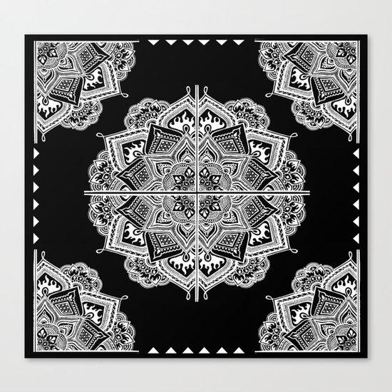 Mandala Lace (Tile) Canvas Print