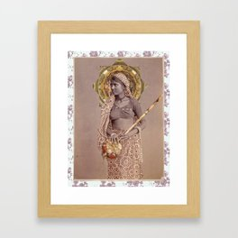 Woman from Bengal Framed Art Print