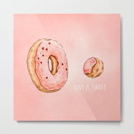 Love is Sweet Metal Print
