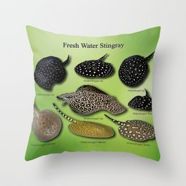Amazon freshwater stingray Throw Pillow