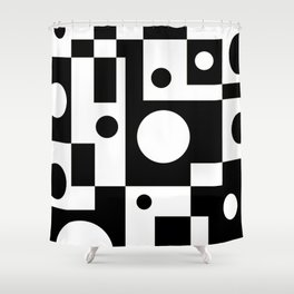Black & White Abstract II Shower Curtain