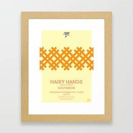 Hairy Hands Framed Art Print