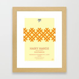 Hairy Hands Framed Art Print
