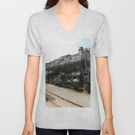 Steam Locomotive Number 5021 Sacramento Unisex V-Neck