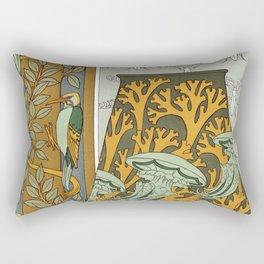 Maurice Pillard Verneuil - Piverts et arbre, bordure verticale Rectangular Pillow