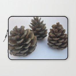 Winter Wonderland Wannabe Minimal Pinecones Laptop Sleeve