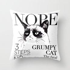 Grumpy the cat Throw Pillow