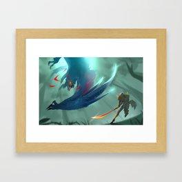 Nargacuga Hunt [Monster Hunter] Framed Art Print