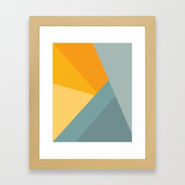 Abstract Mountain Sunrise Framed Art Print