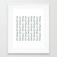 cupcakes Framed Art Prints featuring Cupcakes by Anchobee