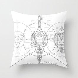 Voyager Blueprint Throw Pillow